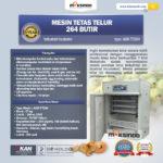 Jual Mesin Tetas Telur Industri 264 Butir (Industrial Incubator) di Medan