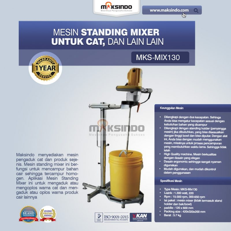 Jual Mesin Standing Mixer Untuk Cat, Dll di Medan