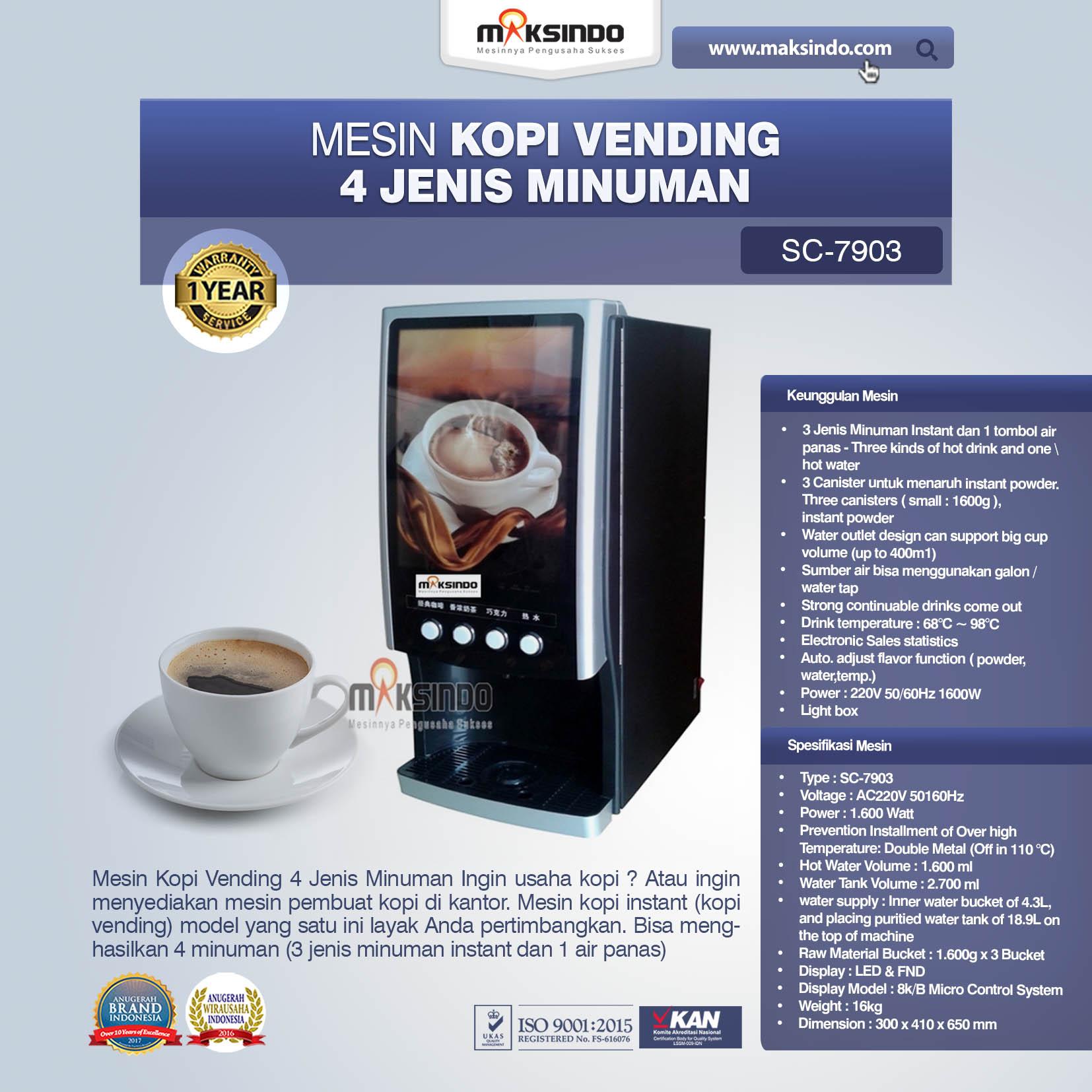 Jual Mesin Kopi Vending 4 Jenis Minuman di Medan