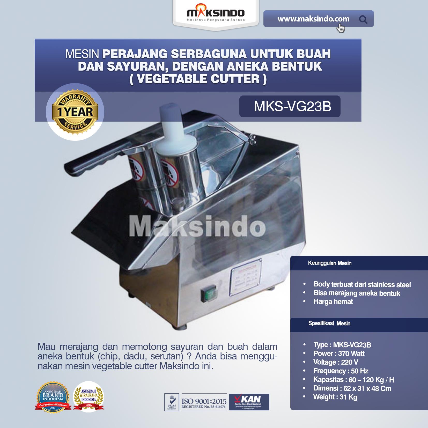 Jual Mesin Vegetable Cutter (MKS-VG23B) di Medan