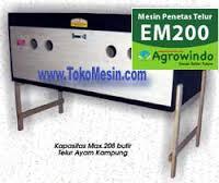 Jual Mesin Penetas Telur Manual 200 Telur (EM-200) di Medan