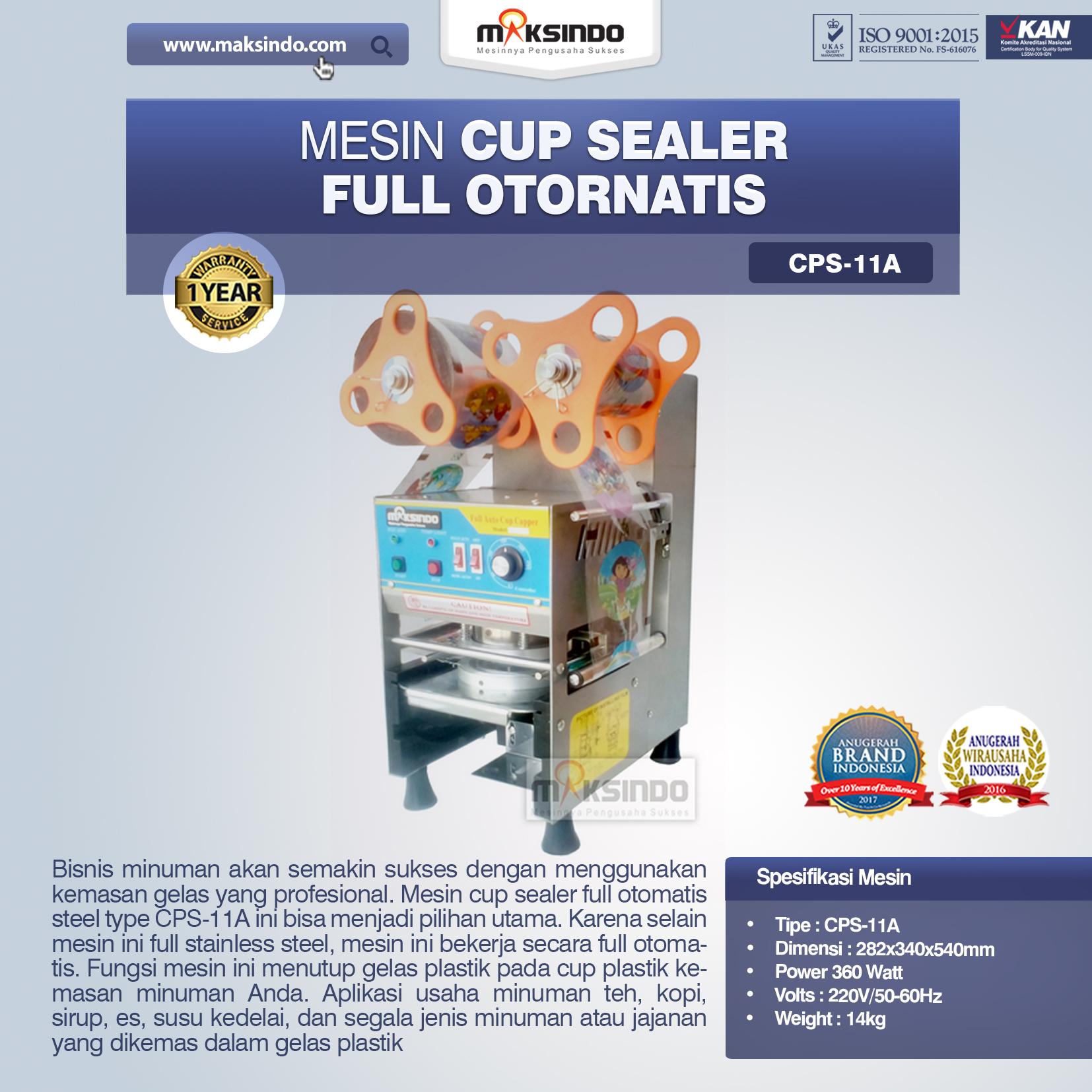 Jual Mesin Cup Sealer Full Otomatis (CPS-11A) di Medan