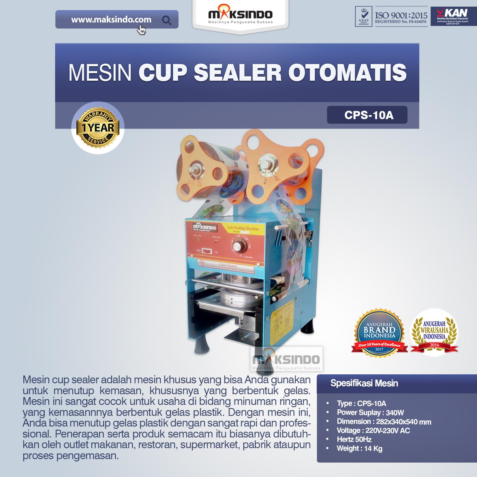 Jual Jual Mesin Cup Sealer Otomatis (CPS-10A) di Medan