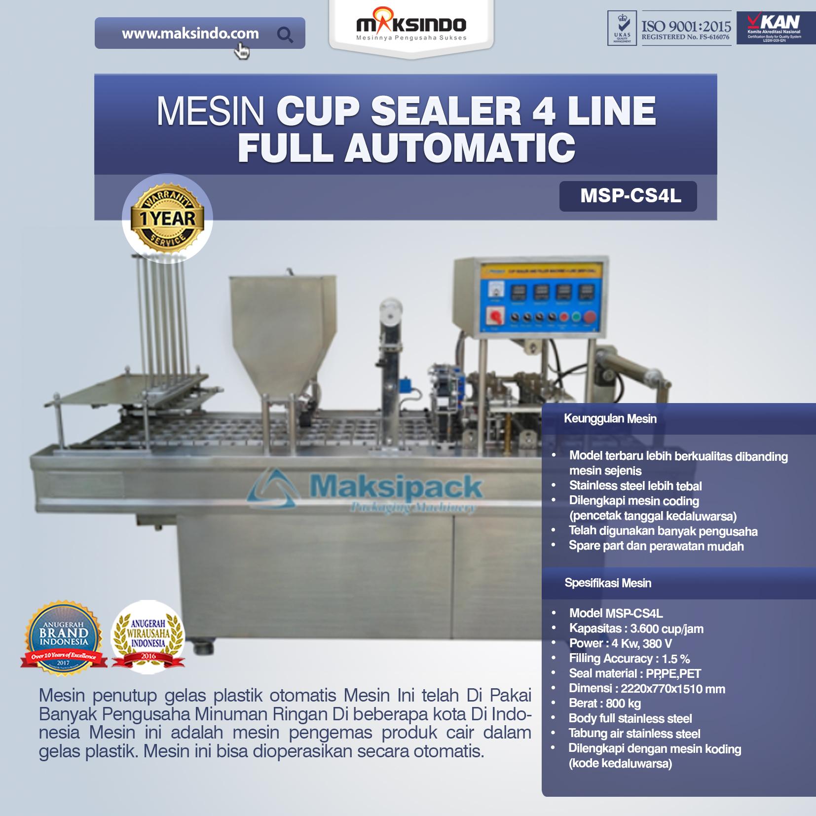 Jual Mesin Cup Sealer 4 Line di Medan