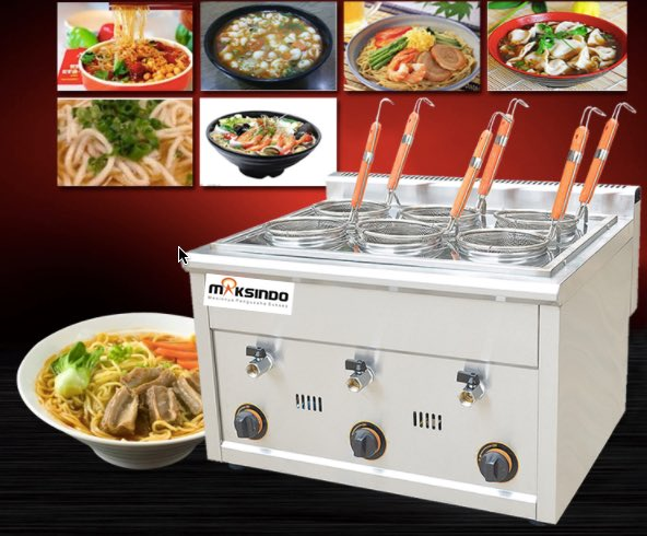 Jual Mesin Pemasak Mie 6 Lubang (Gas, MKS-PC6) di Medan