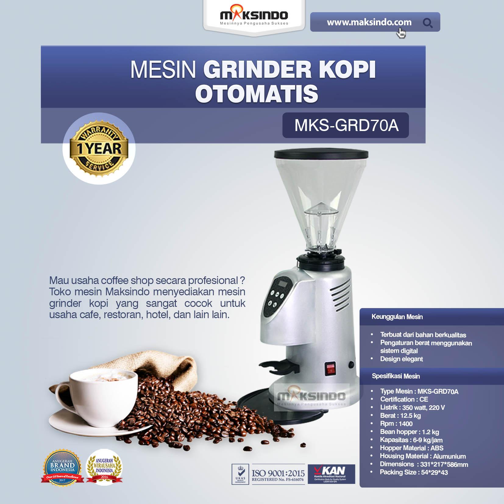 Jual Mesin Grinder Kopi Otomatis – MKS-GRD70A di Medan