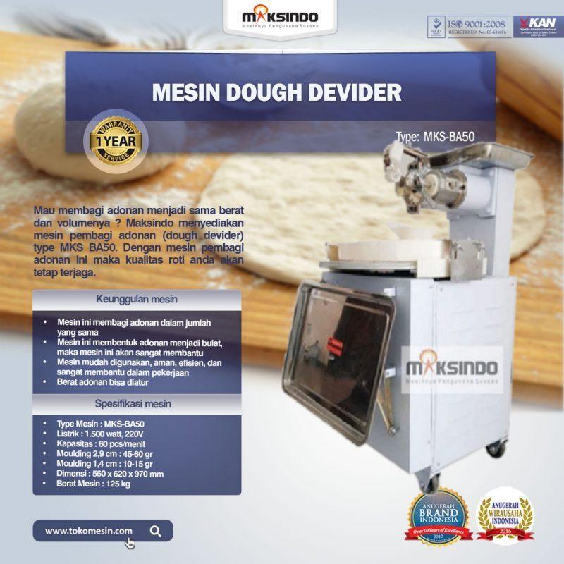 Jual Mesin Dough Devider MKS-BA50 di Medan