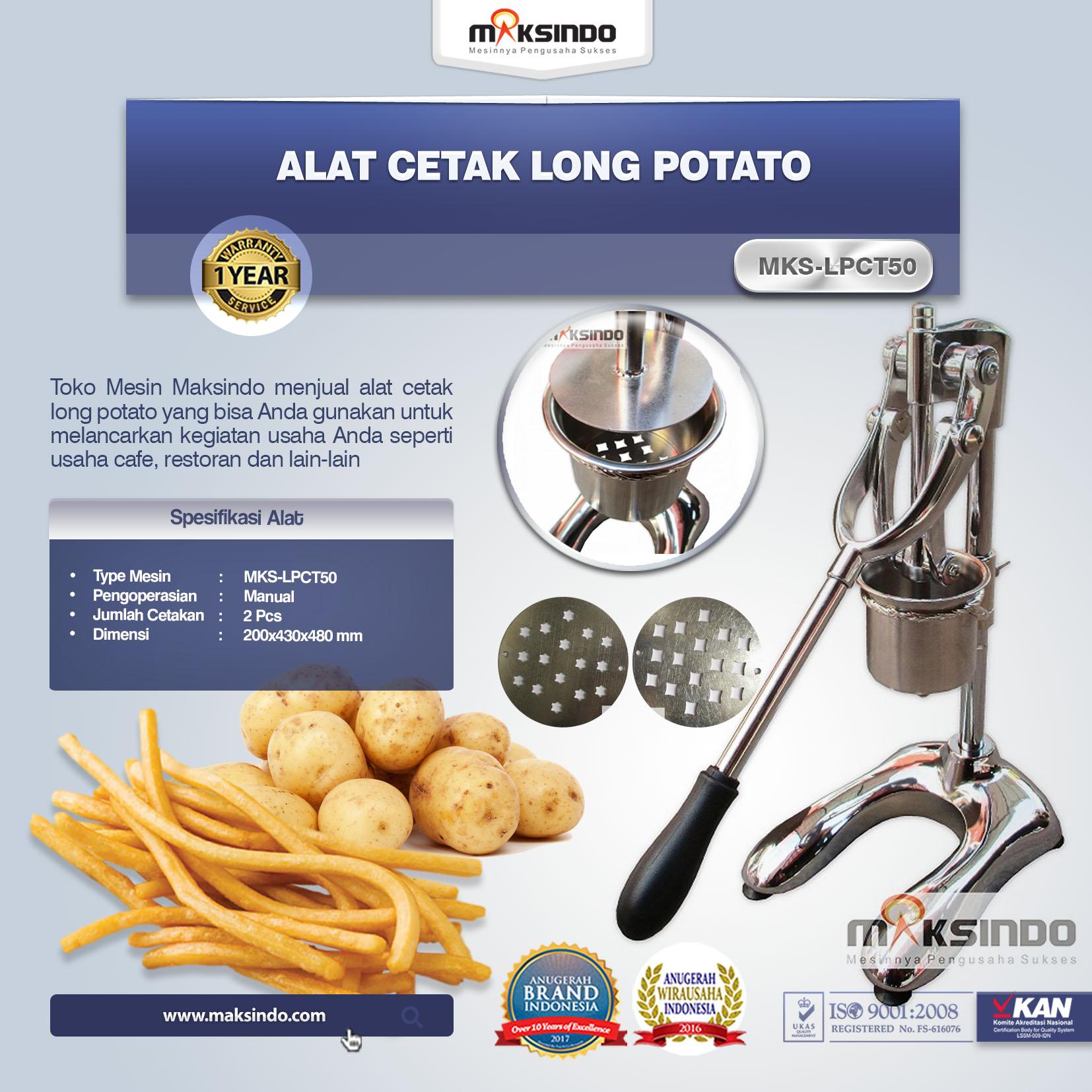 Jual Alat Cetak Long Potato MKS-LPCT50 di Medan