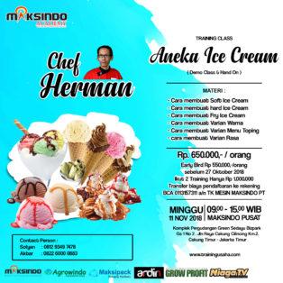 Training Usaha Ice Cream dan Toping, Minggu, 11 November 2018