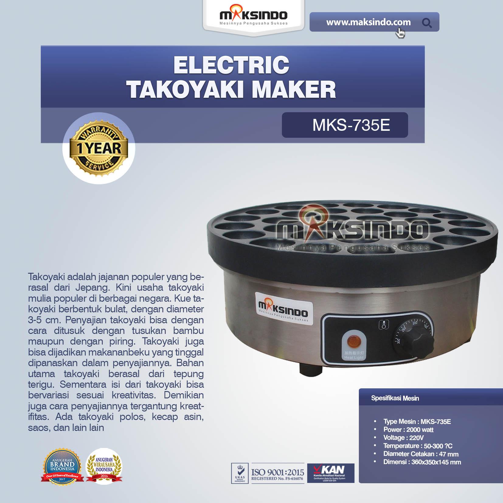 Jual Electric Takoyaki Maker MKS-735E di Medan