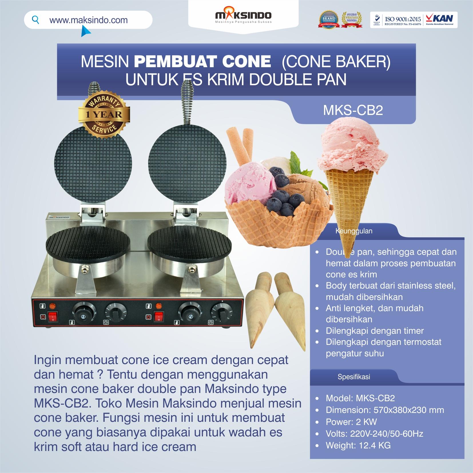 Jual Pembuat Cone Ice Cream (CB2) di Medan