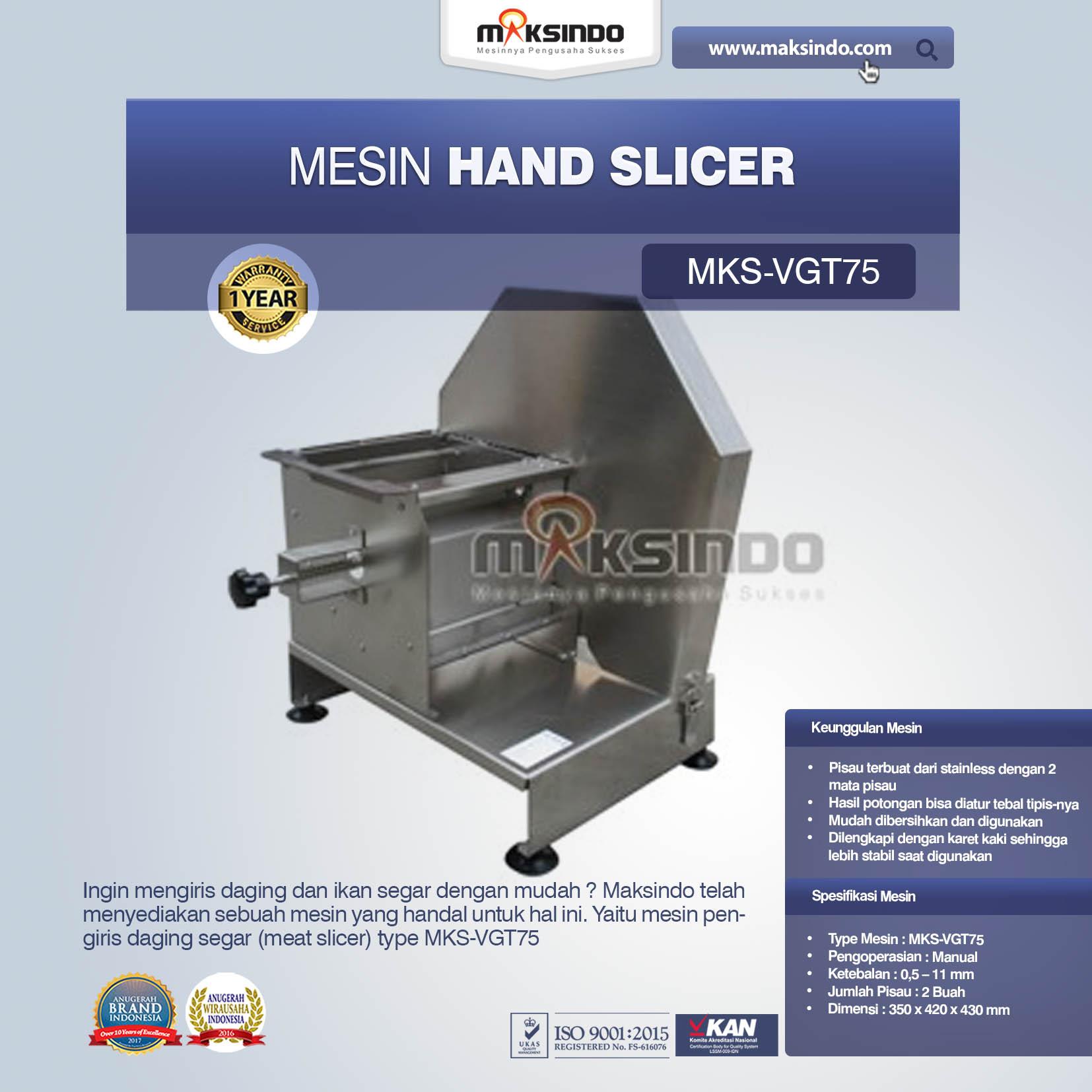 Jual Perajang Serbaguna, Hand Slicer MKS-VGT75 di Medan
