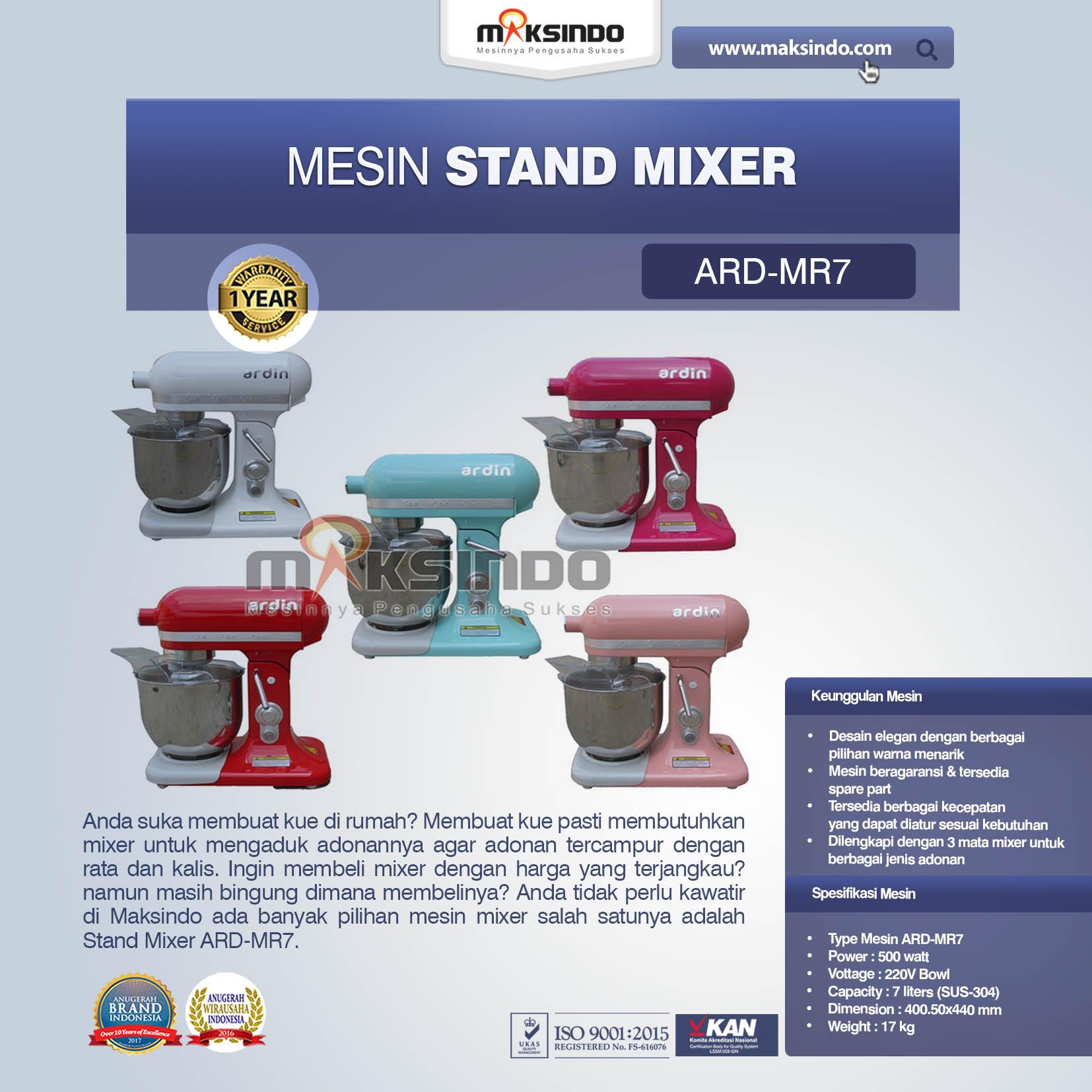 Jual Stand Mixer ARD-MR7 di Medan
