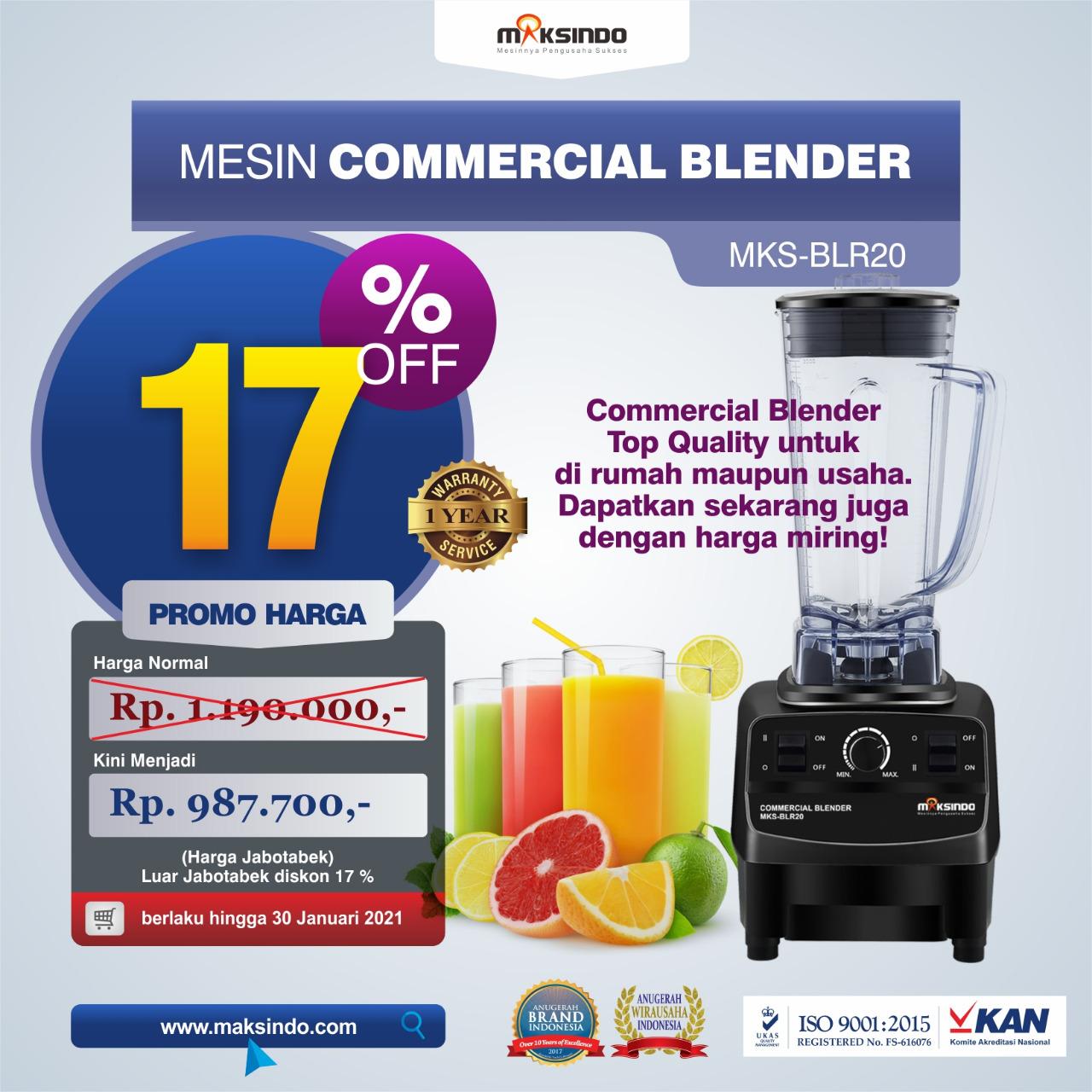 Jual Commercial BlenderMKS-BLR20 di Medan