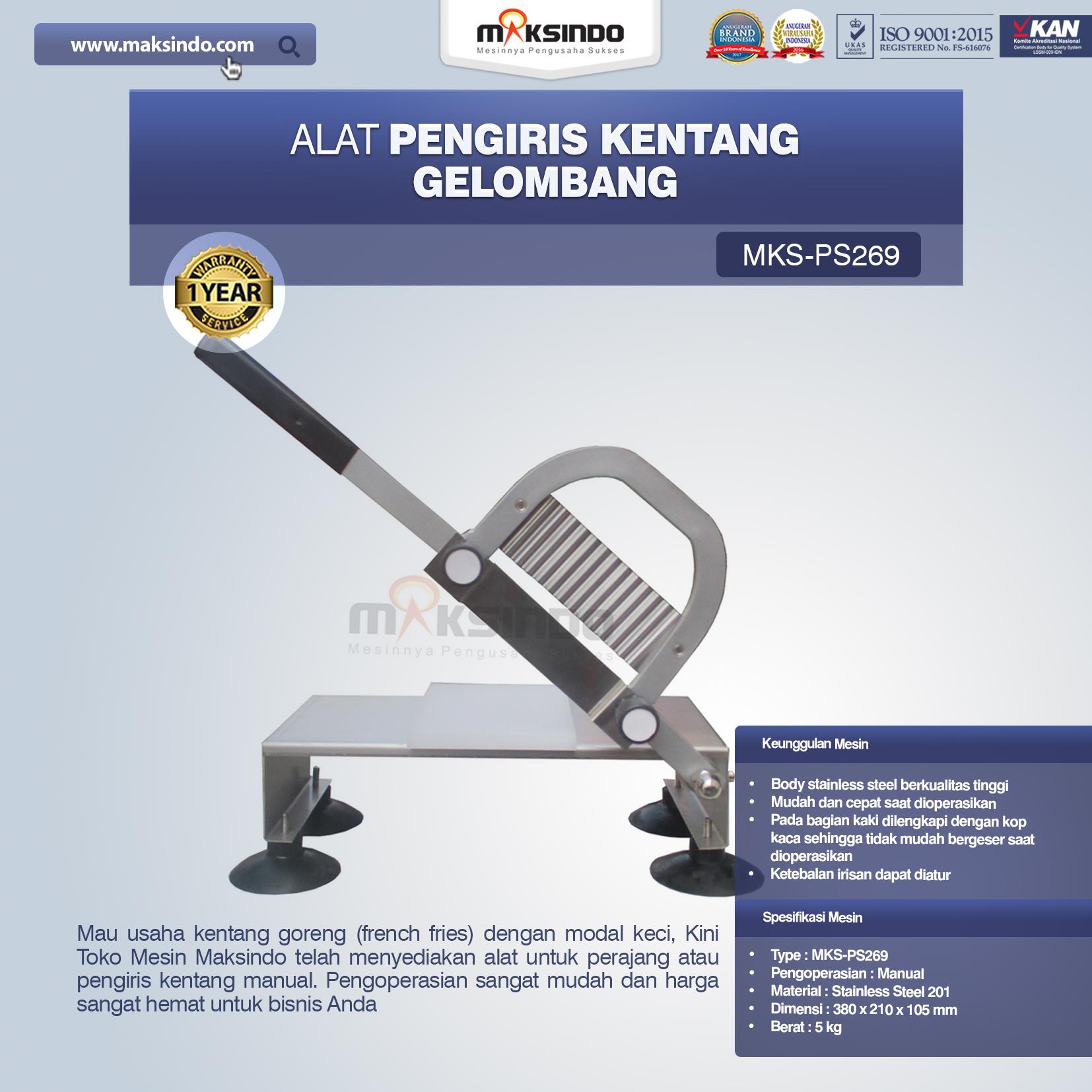 Jual Alat Pengiris Kentang Gelombang MKS-PS269 di Medan