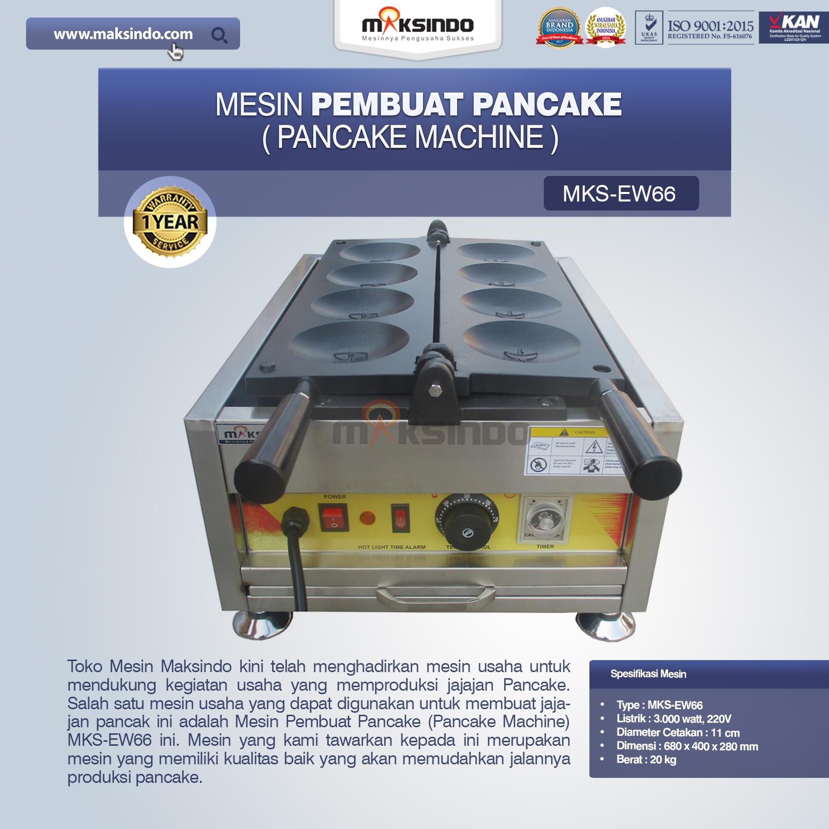 Jual Mesin Pembuat Pancake (Pancake Machine) MKS-EW66 di Medan