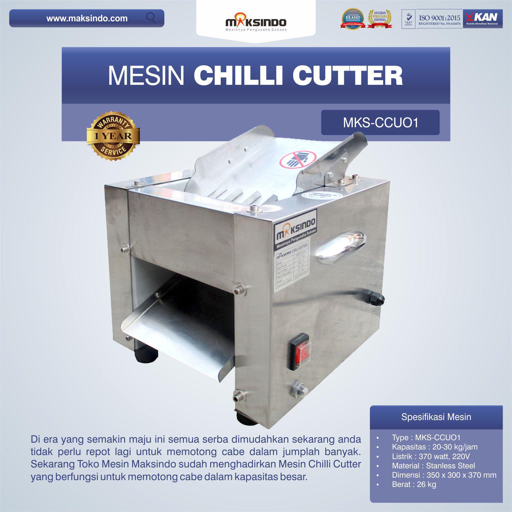 Jual Mesin Chilli Cutter MKS-CCU01 di Medan