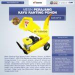 Jual Mesin Perajang Kayu Basah dan Ranting Pohon – AGR-CP15 di Medan