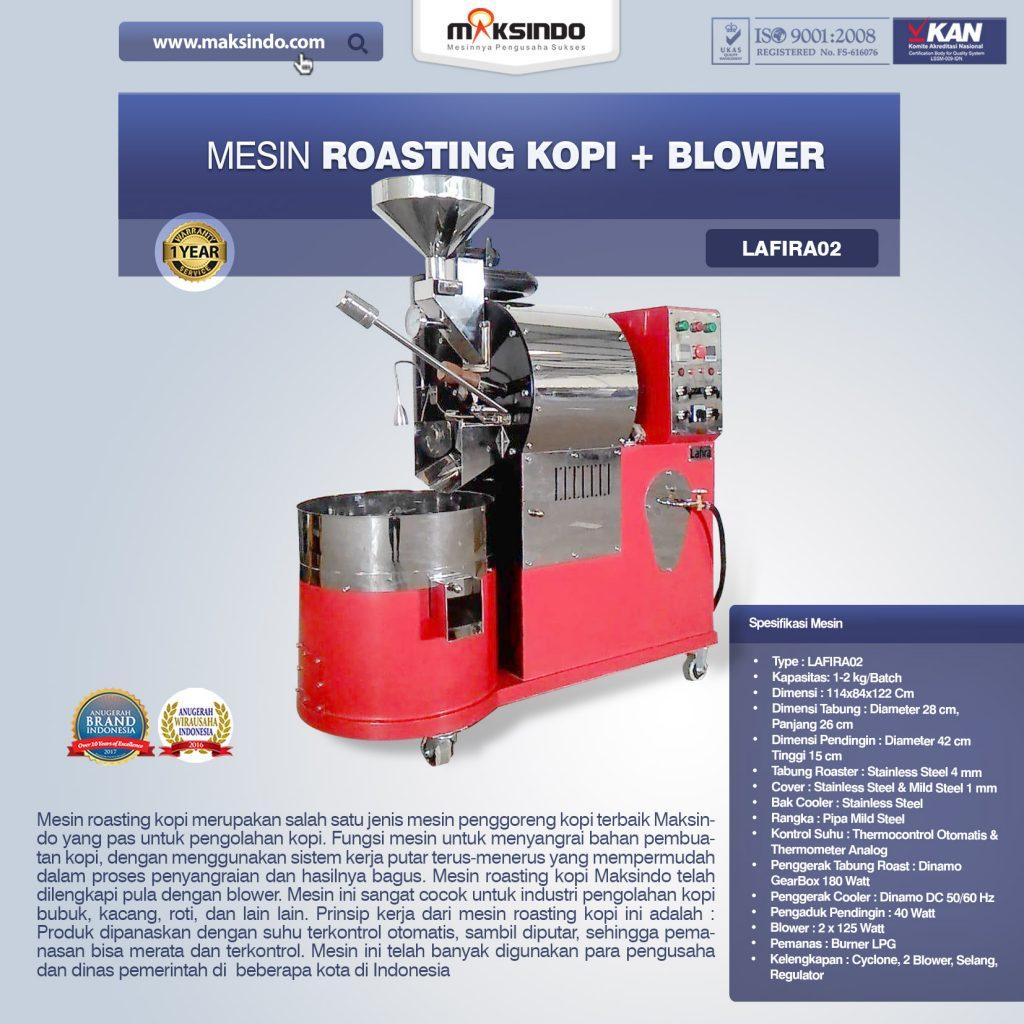 Jual Mesin Roasting Kopi + Blower Lafira 02 di Medan