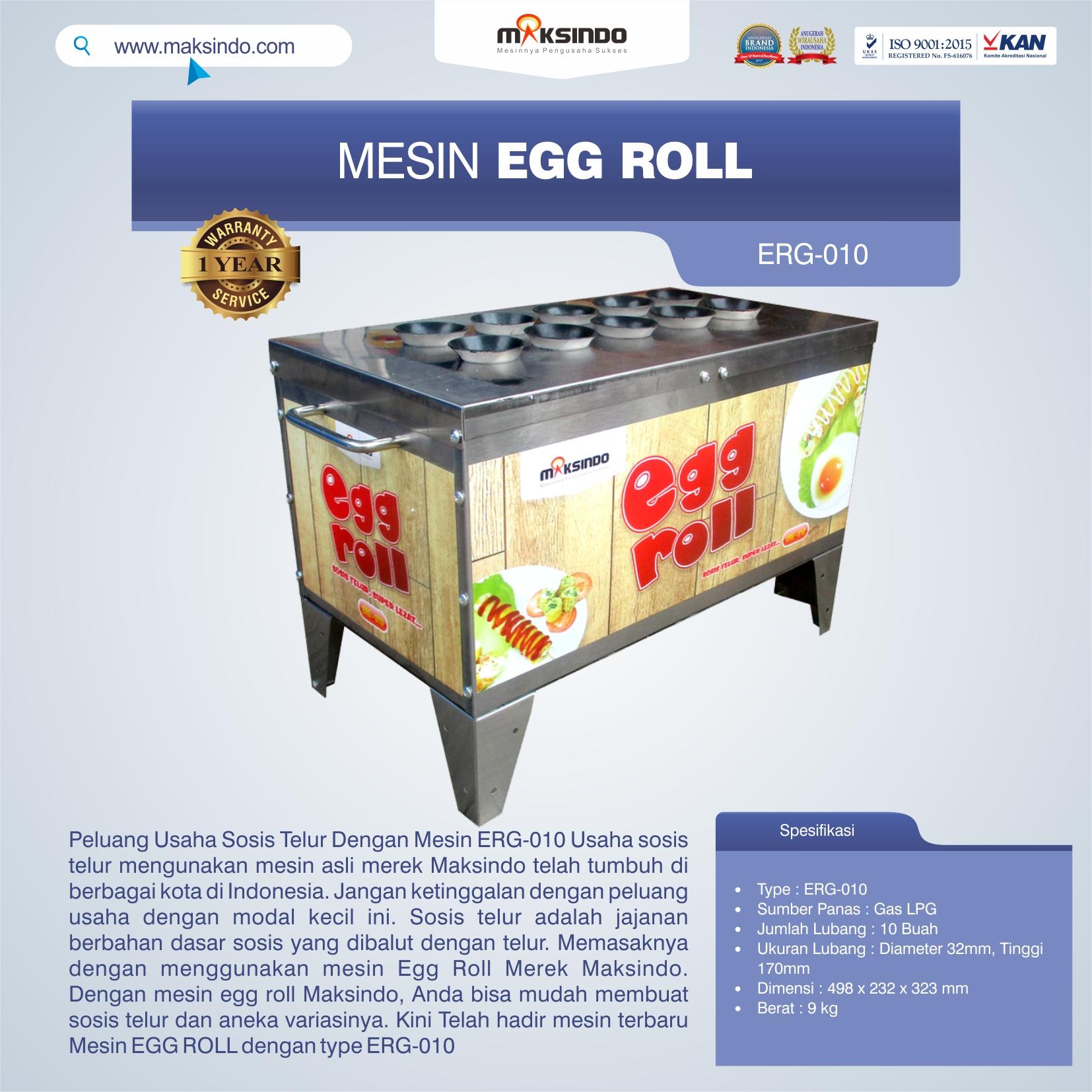 Jual Mesin Pembuat Egg Roll ERG-010 di Medan