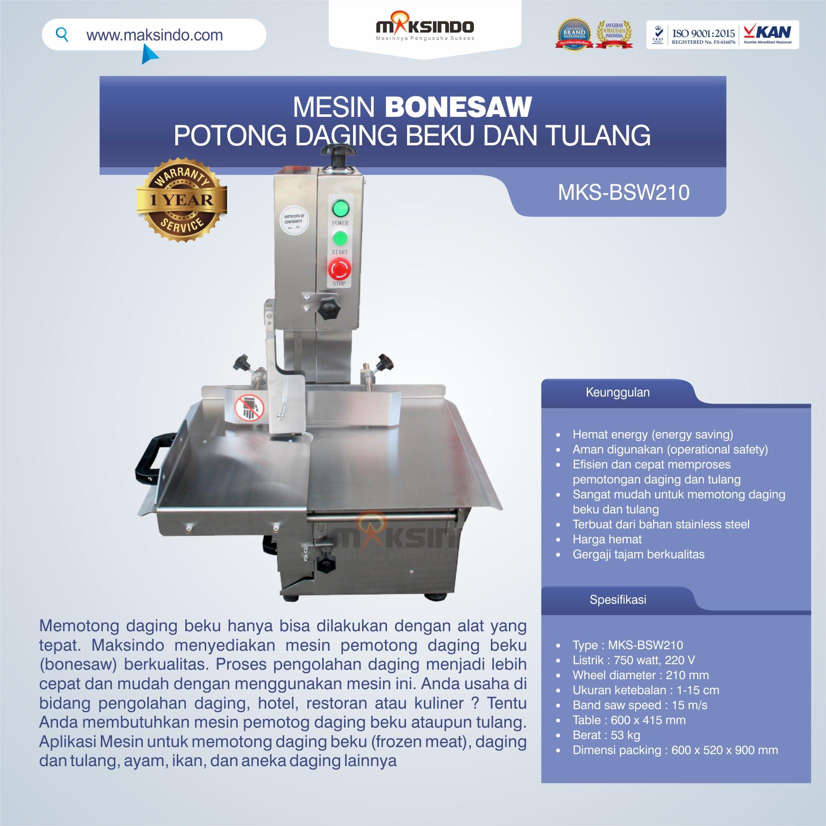 Jual Bonesaw Pemotong Daging Beku (MKS-BSW210) Di Medan
