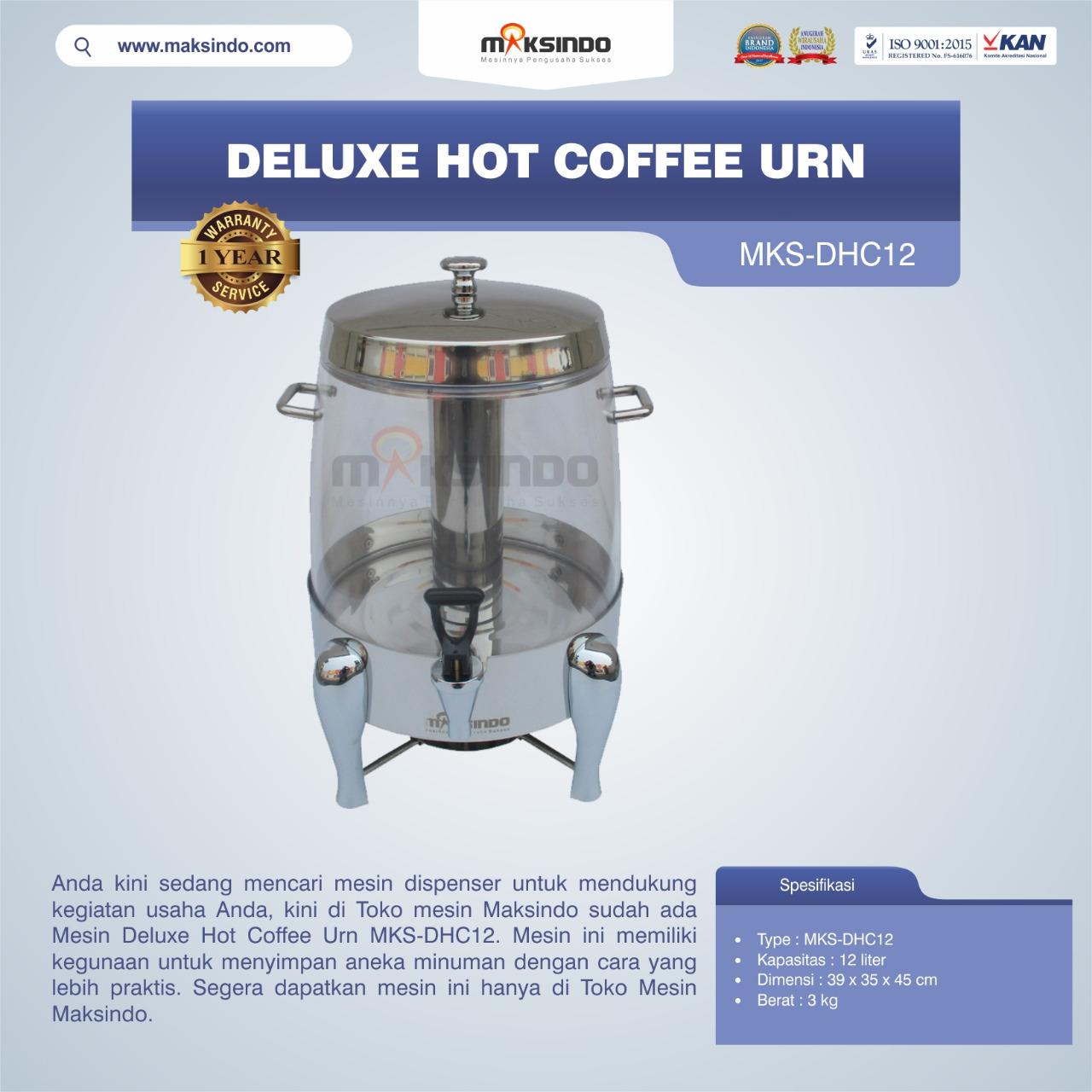 Jual Deluxe Hot Coffee Urn MKS-DHC12 di Medan