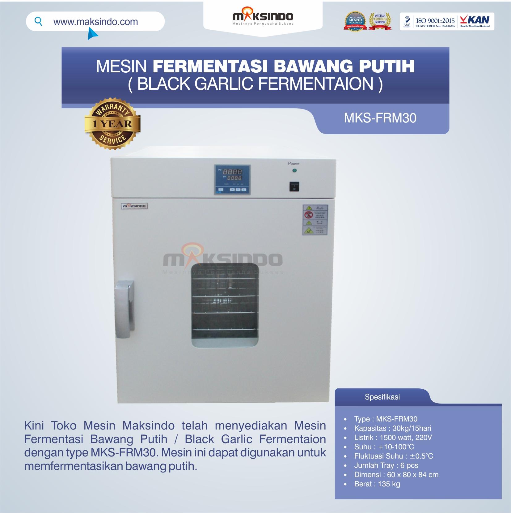 Jual Mesin Fermentasi Bawang Putih / Black Garlic Fermentaion MKS-FRM30 di Medan