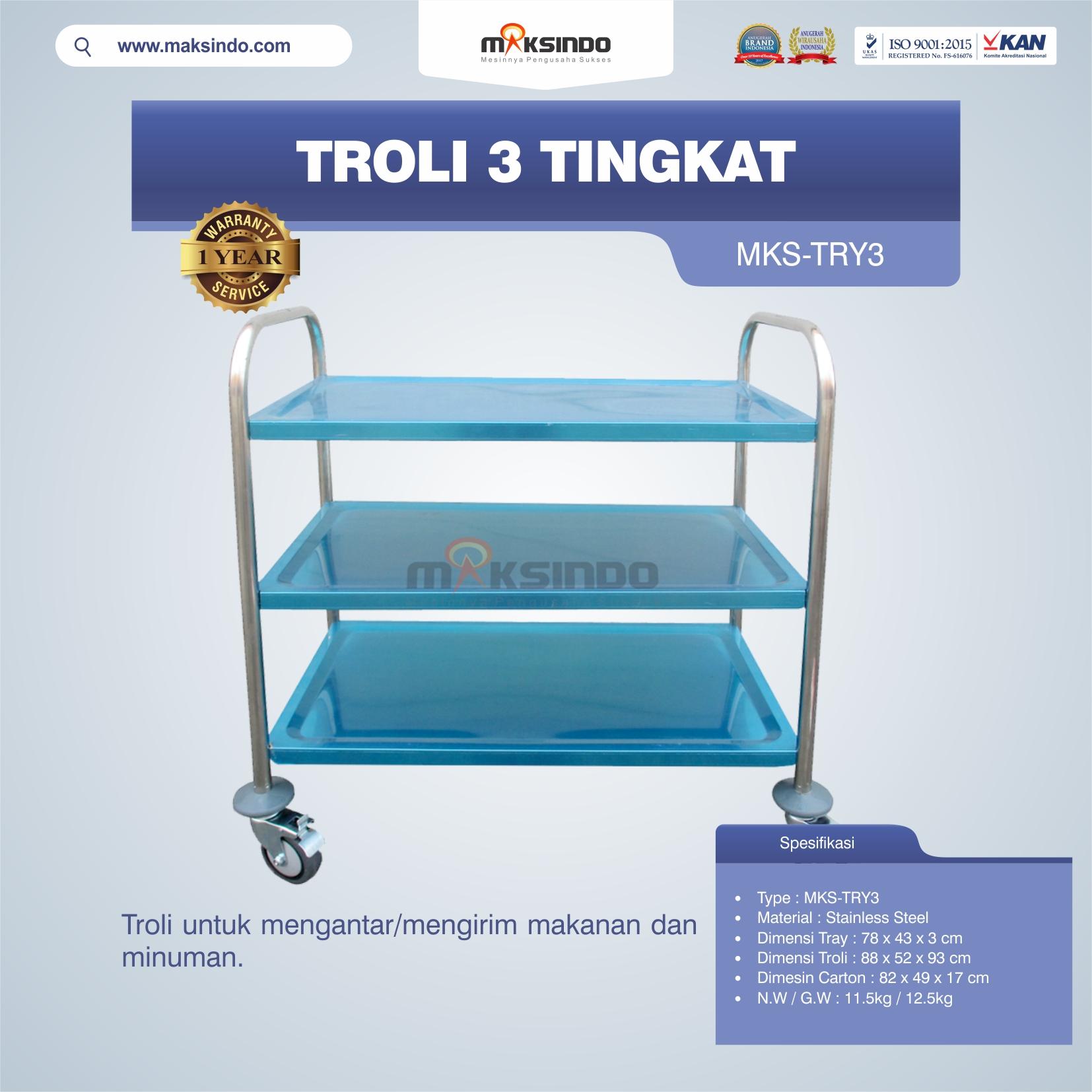 Jual Troli 3 Tingkat MKS-TRY3 di Medan