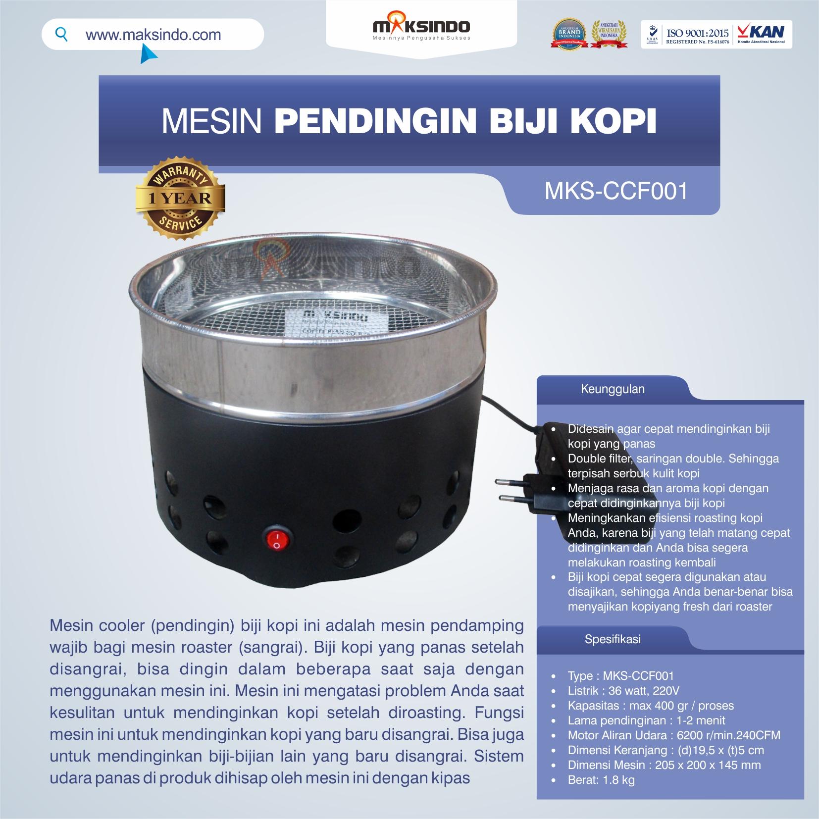 Jual Mesin Pendingin Biji Kopi MKS-CCF001 di Medan