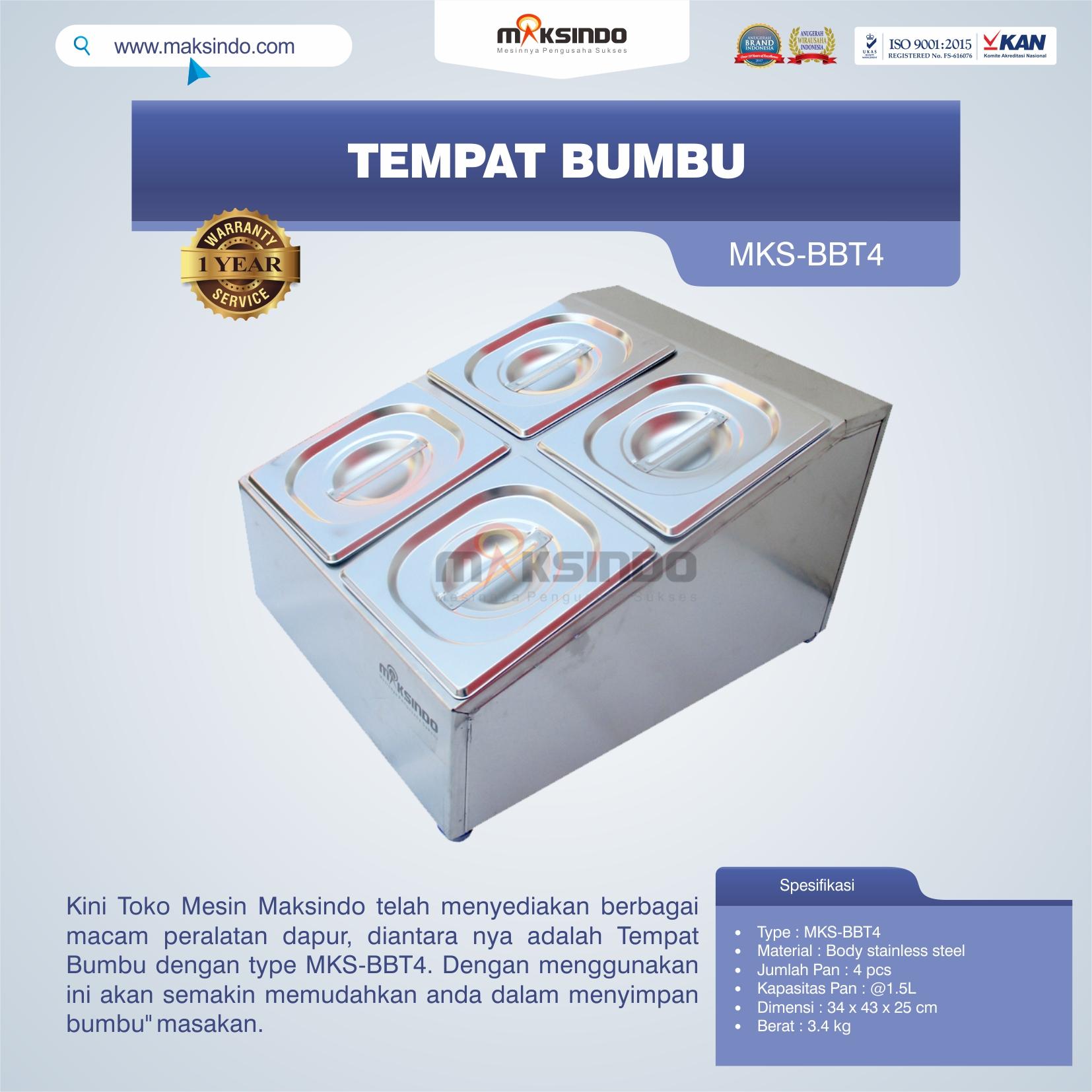 Jual Tempat Bumbu MKS-BBT4 di Medan