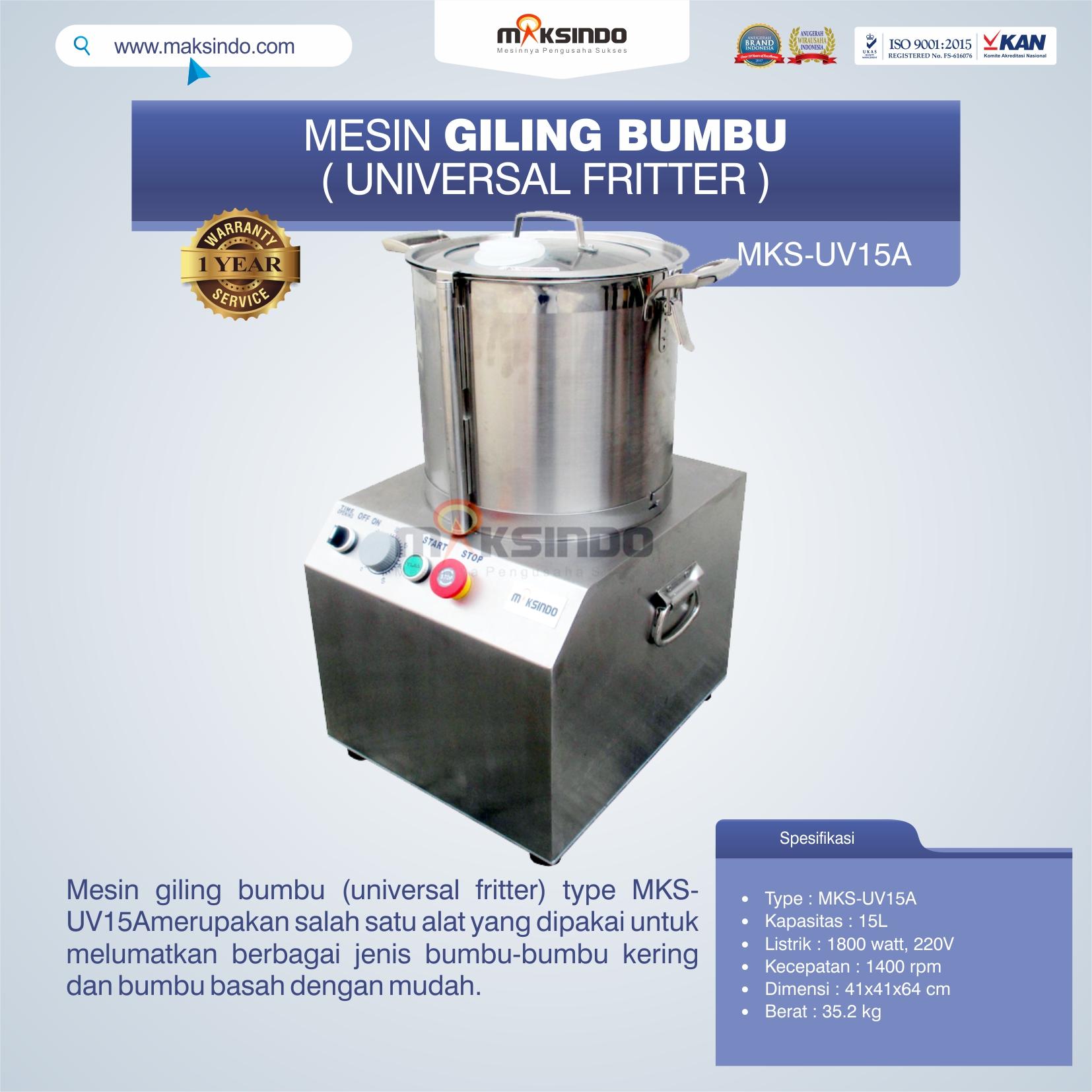 Jual Mesin Giling Bumbu (Universal Fritter) MKS-UV15A di Medan