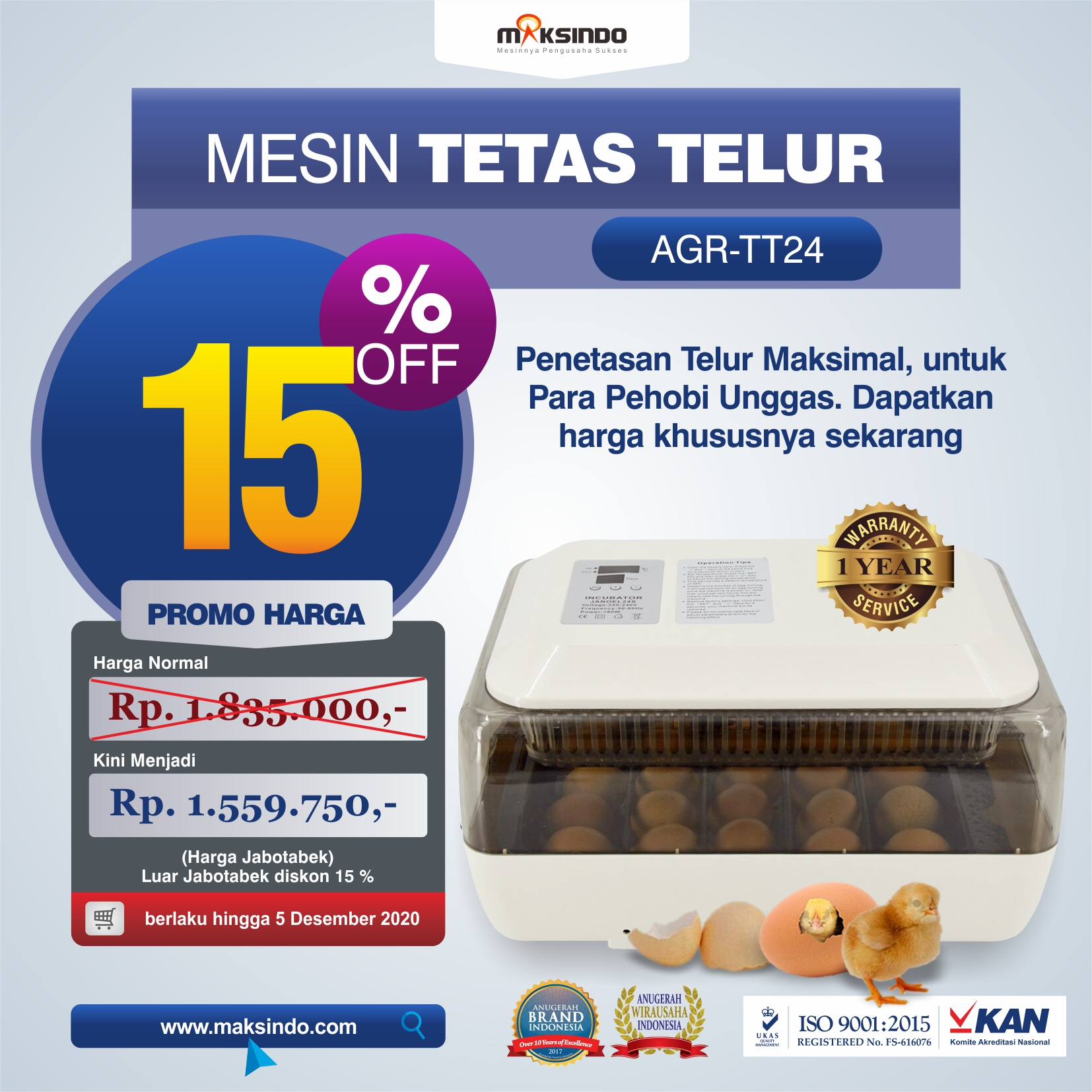 Jual Mesin Penetas Telur di Medan