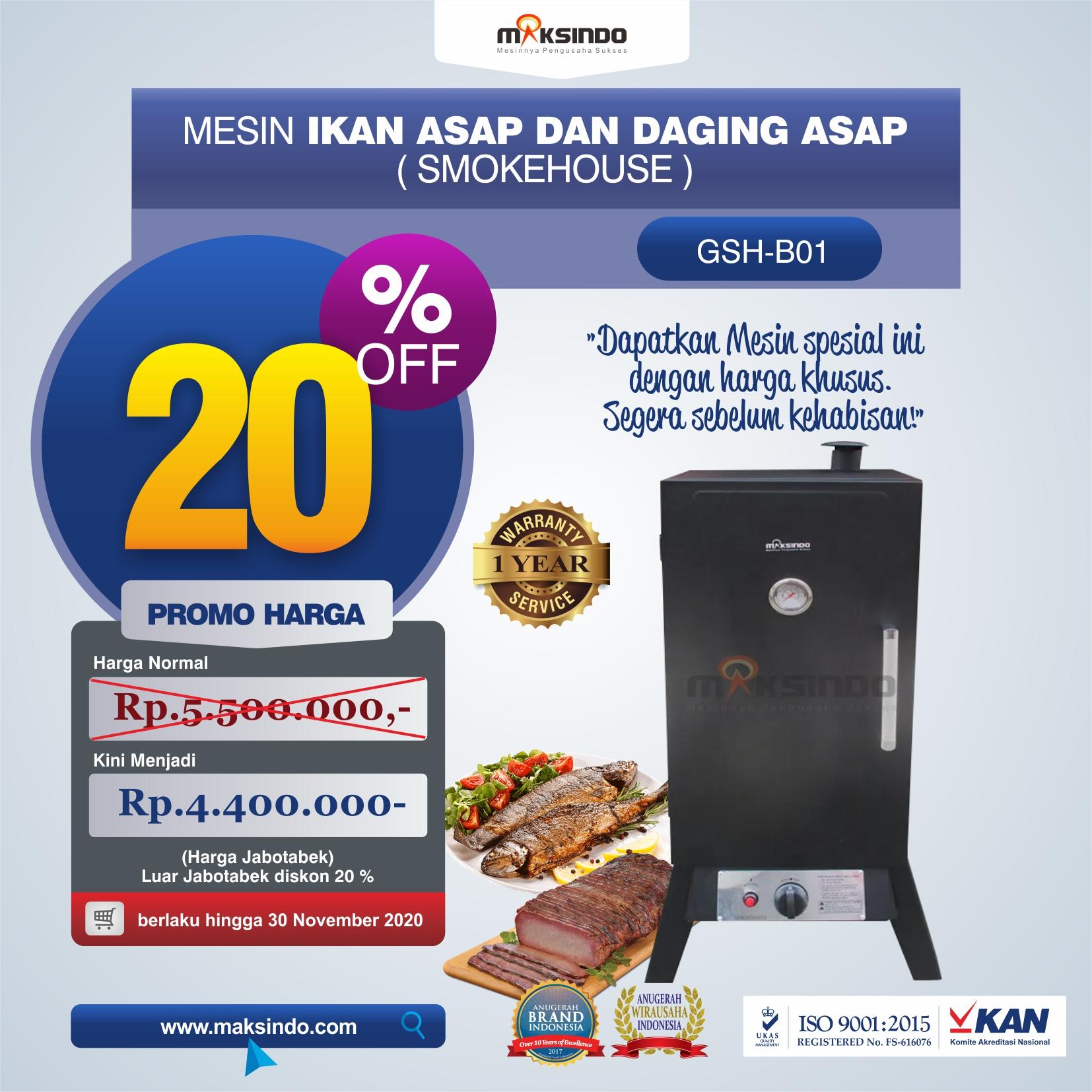 Jual Mesin Ikan Asap dan Daging Asap (Smokehouse) GSH-B01 Di Medan