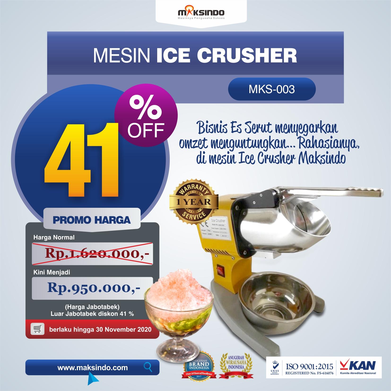 Jual Mesin Es Serut (Ice Crusher MKS-003) di Medan