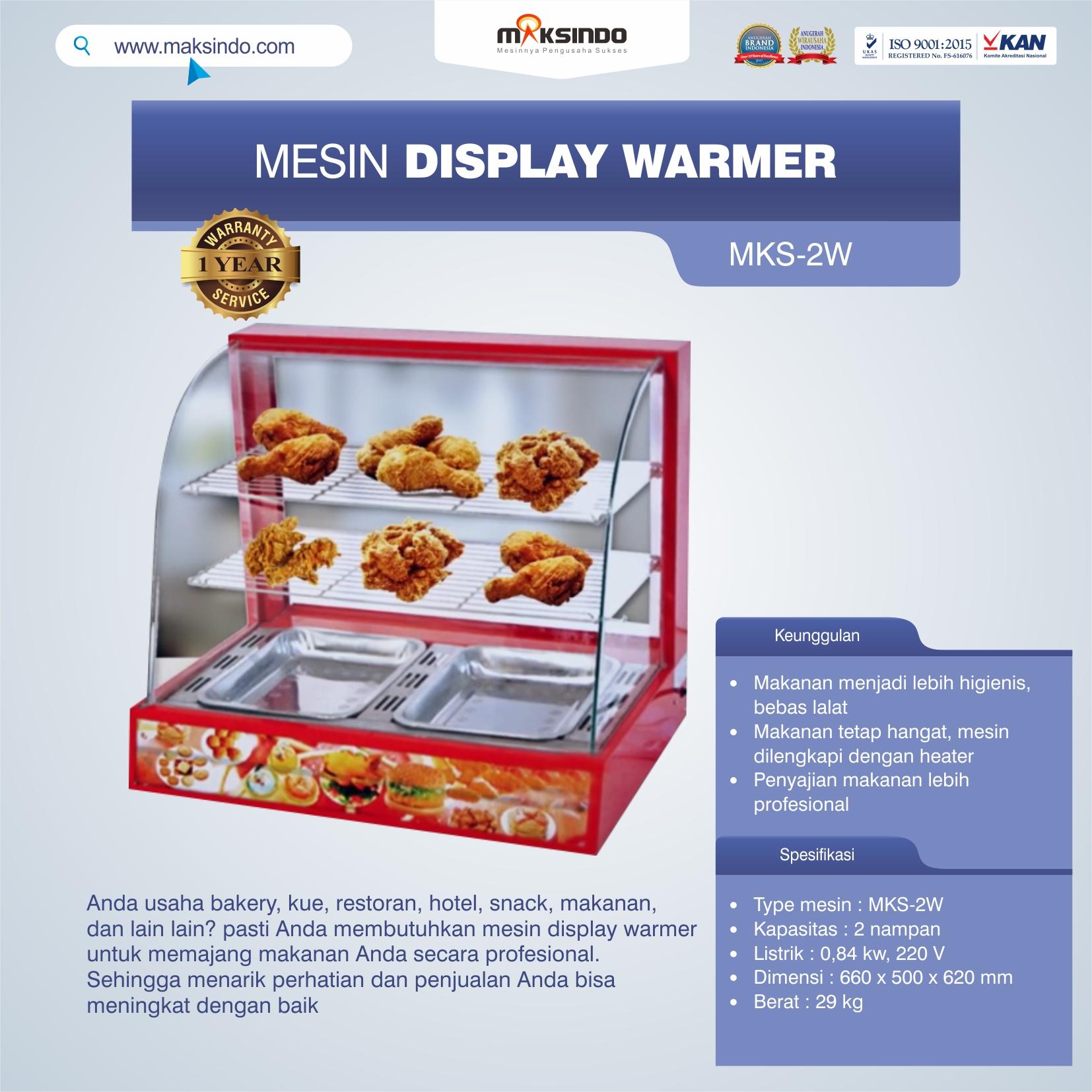 Jual Mesin Diplay Warmer (MKS-2W) di Medan