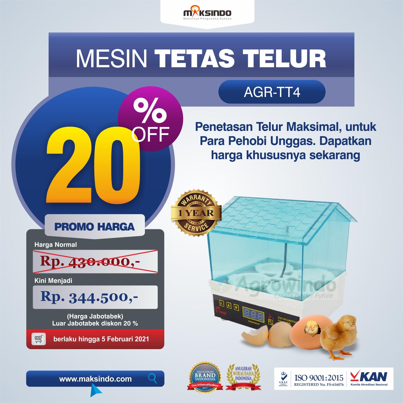 Jual Tetas Telur Mini 4 Butir (AGR-TT4) di Medan