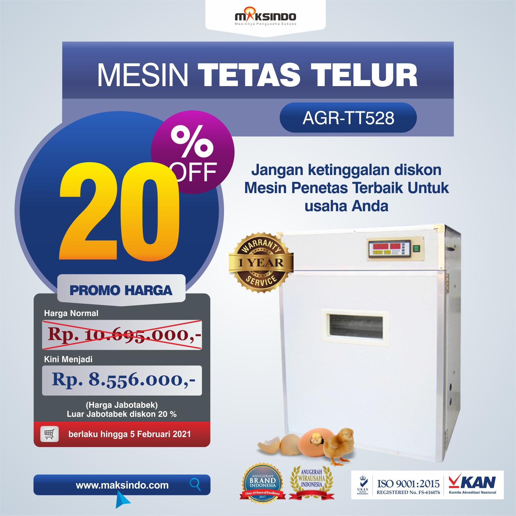 Jual Mesin Tetas Telur Industri 528 Butir (Industrial Incubator) di Medan