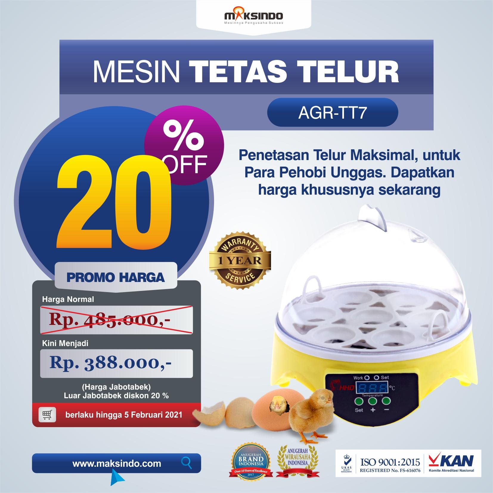 Jual Mesin Penetas Telur 7 Butir di Medan