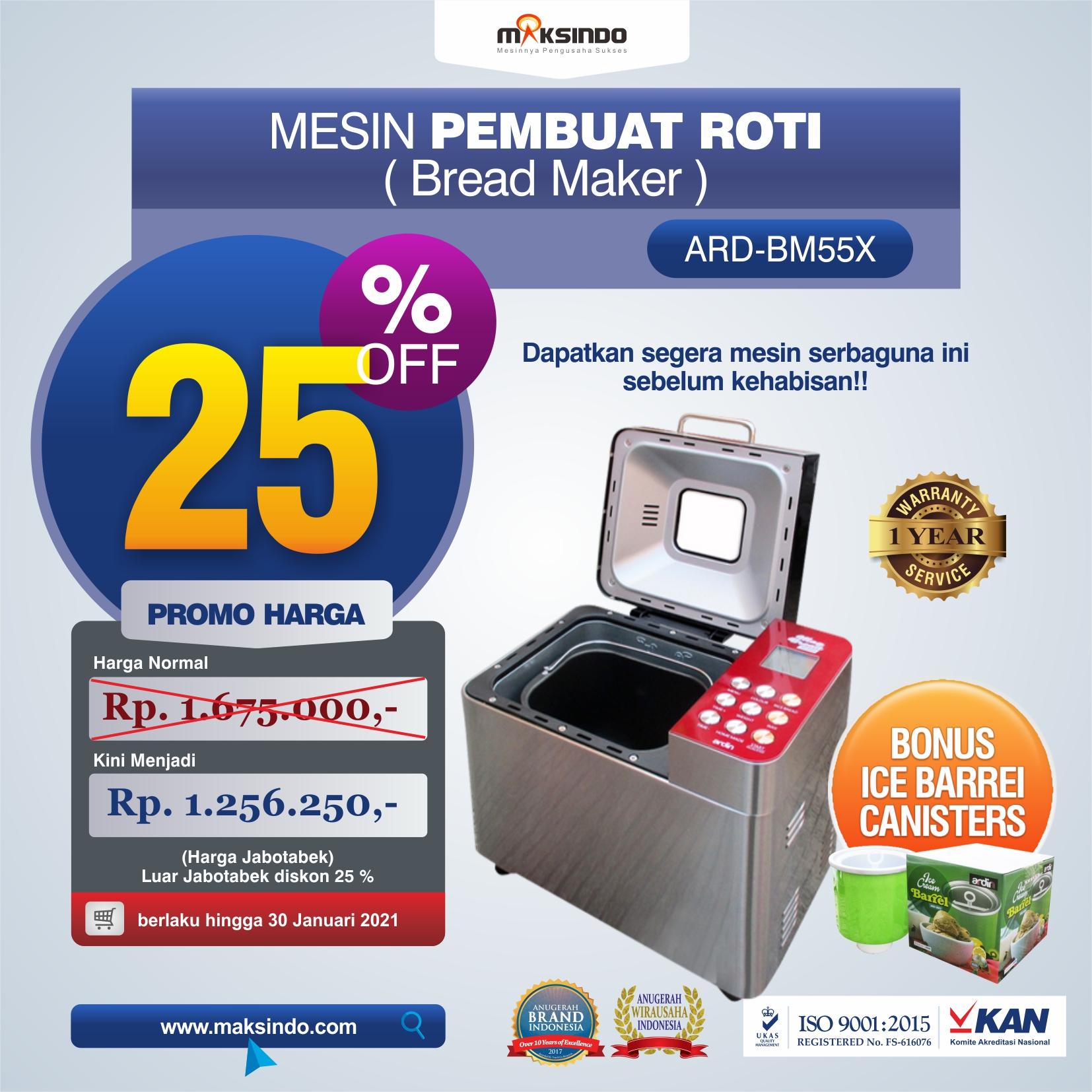 Jual Pembuat Roti Bread Maker ARD-BM55X di Medan