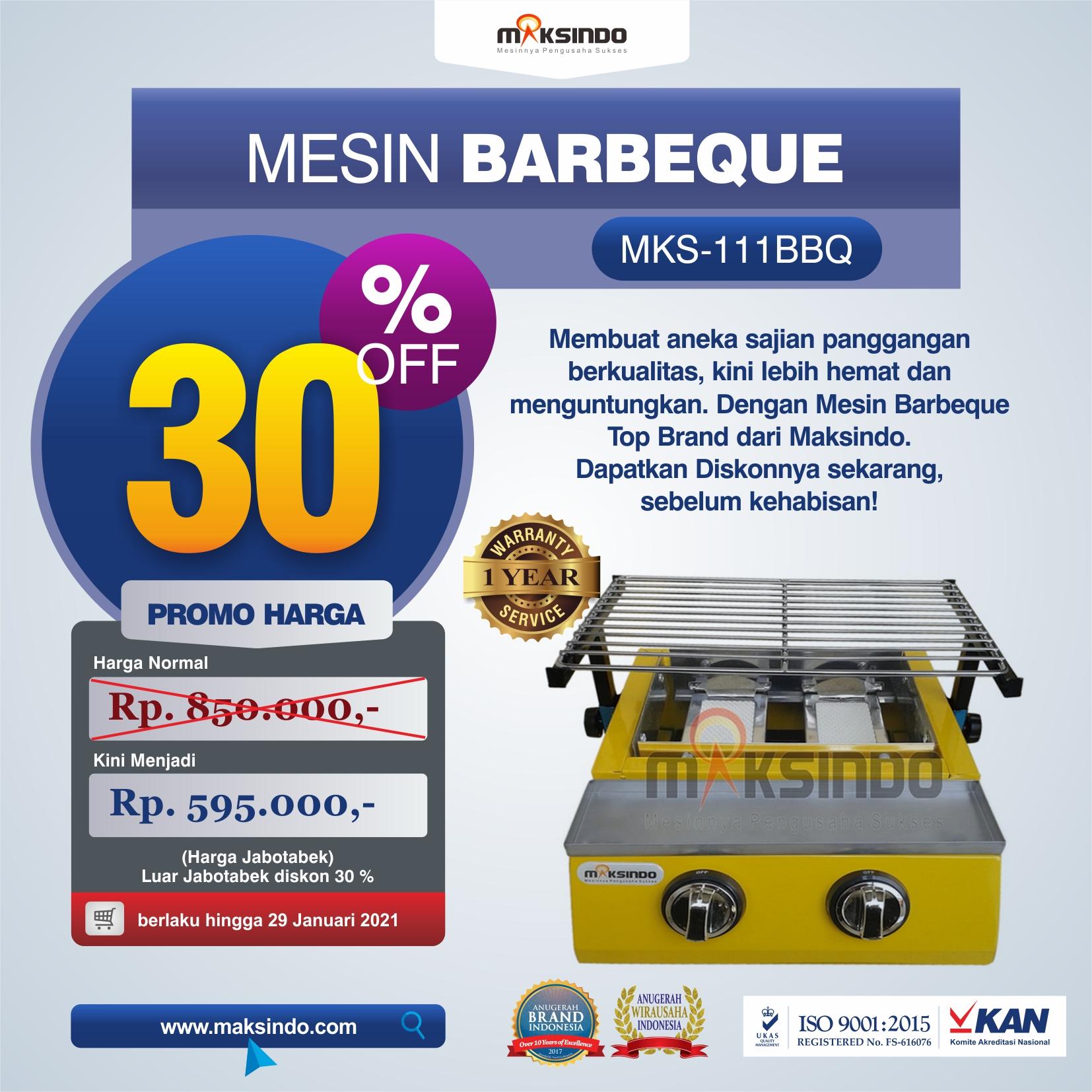 Jual Mesin Pemanggang Sate – BBQ 2 Tungku (Gas) di Medan