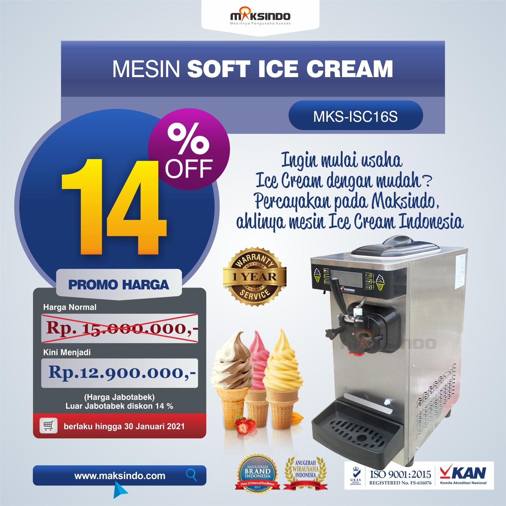 Jual Mesin Soft Ice Cream ISC-16S di Medan