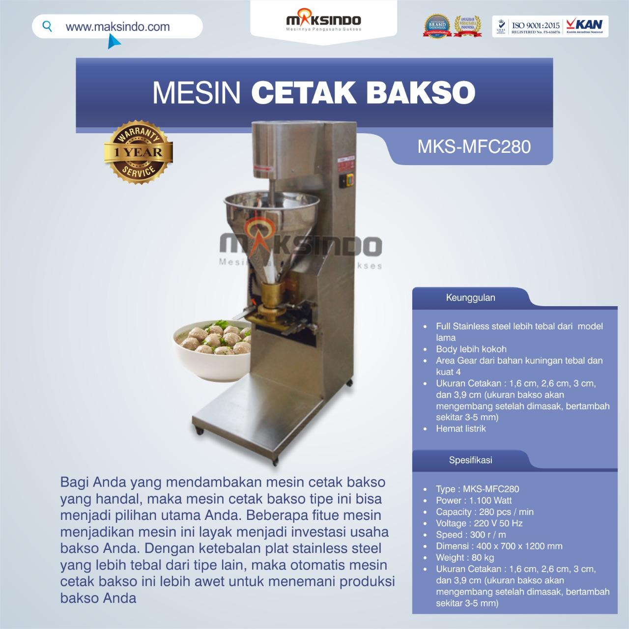 Jual Mesin Cetak Bakso MF-C280B di Medan