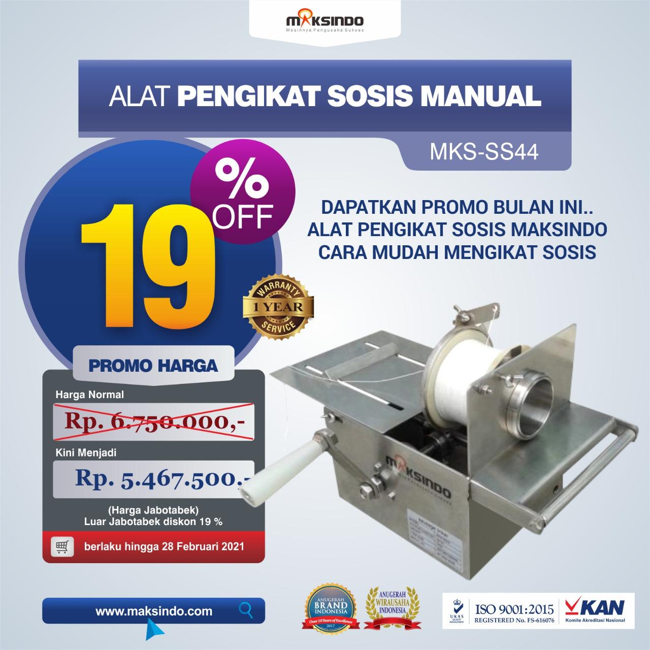 Jual Alat Pengikat Sosis Manual (MKS-SS44) di Medan